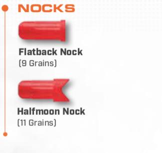 Nocks for Crossbow Bolts