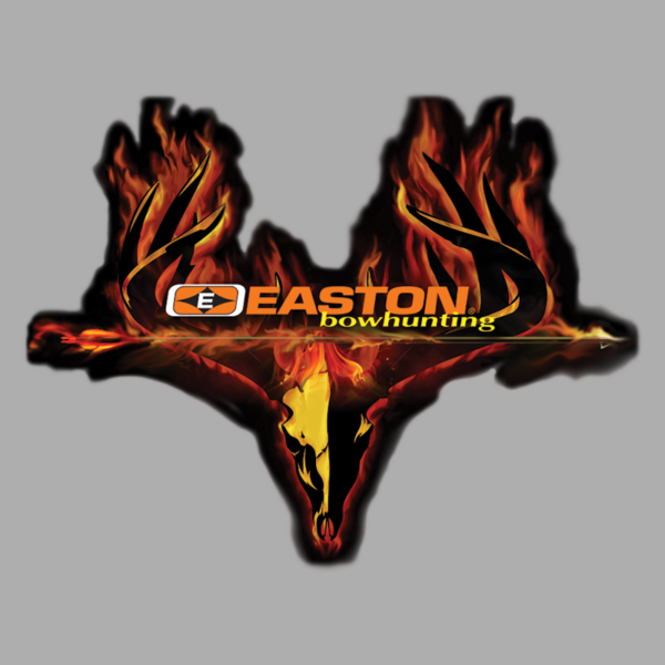 "Easton Archery DECALS - Burning Skull Decal 6"" x 4.75"""