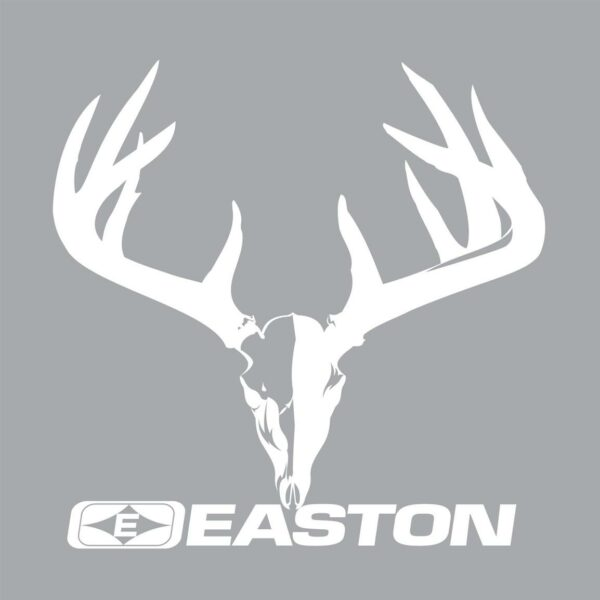 "Easton Archery DECALS - Easton Skull and Rack White 5.5"" x 4.25"""