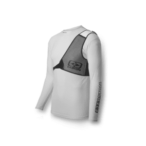 Diamond Chest Guard  White/Black