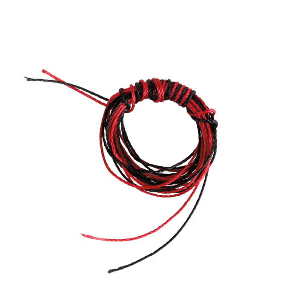BCY  Nock Peep Twine Bag (1 Meter Each  Red and Black)