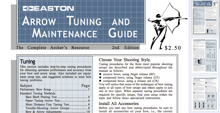 Easton Archery - Arrow Tuning Guide