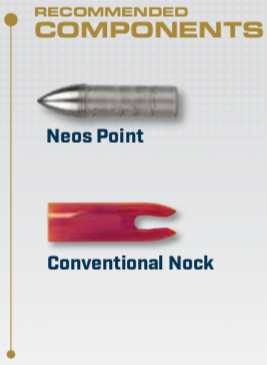 Components for the XX75 NEOS Aluminum Arrow