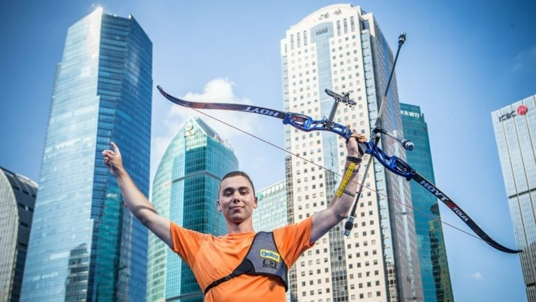 Netherlands Steve WIJLER celebrates his victory in Shanghai