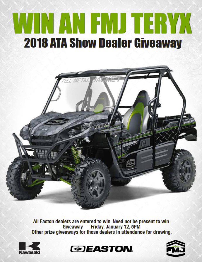 Easton Archery - Custom Team FMJ Kawasaki Teryx UTV Dealer Giveaway