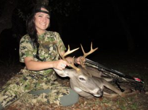 Sarah Laughter Hunting Axis Deer in Texas
