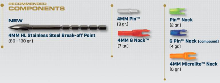 Components for the ProComp 4mm Arrow