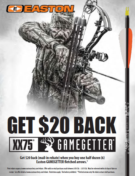 Easton Gamegetter Rebate