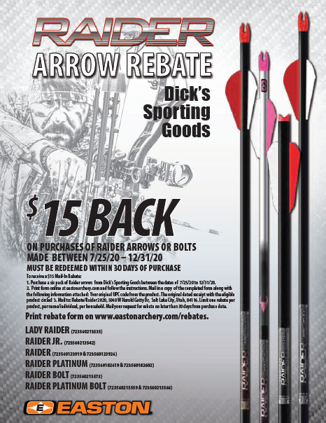 Easton Raider Dicks Sporting Goods Rebate