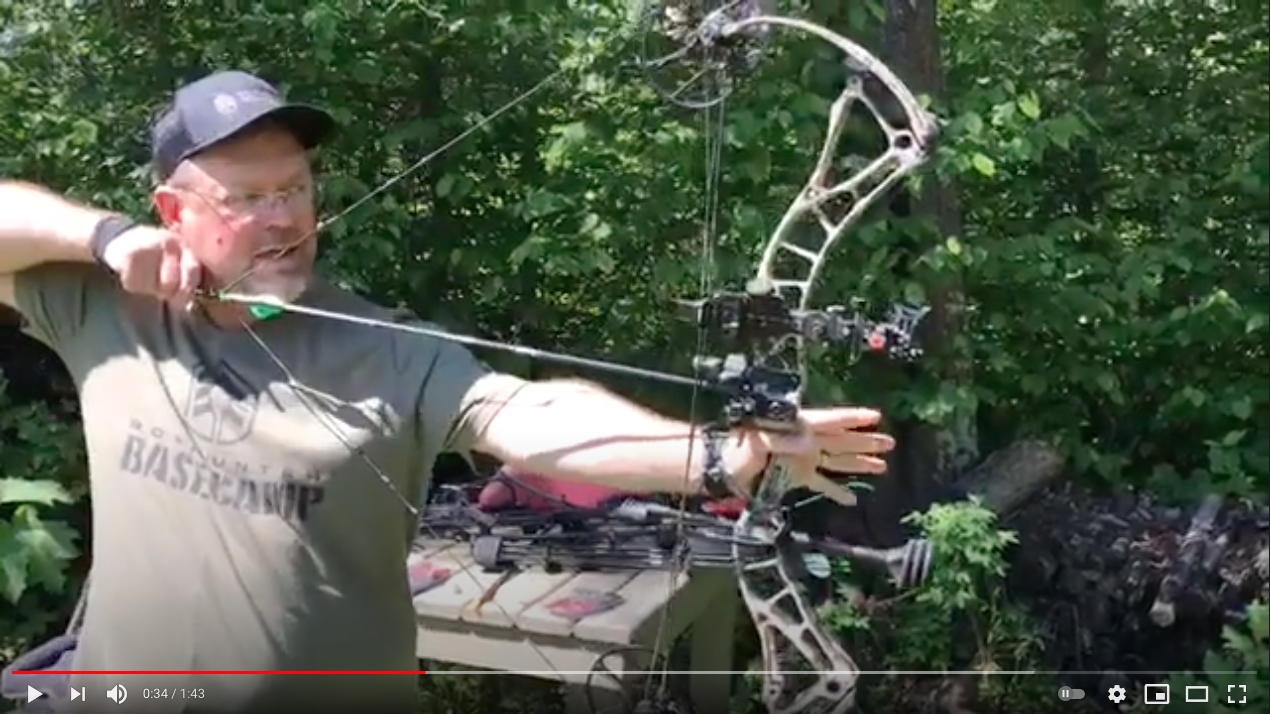 Brad Fenson demonstrating how to use a trigger release