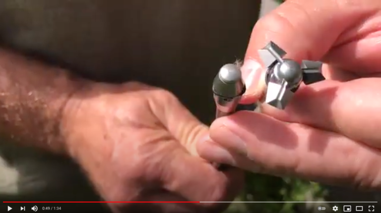Brad Fenson shows a close up of vamint points