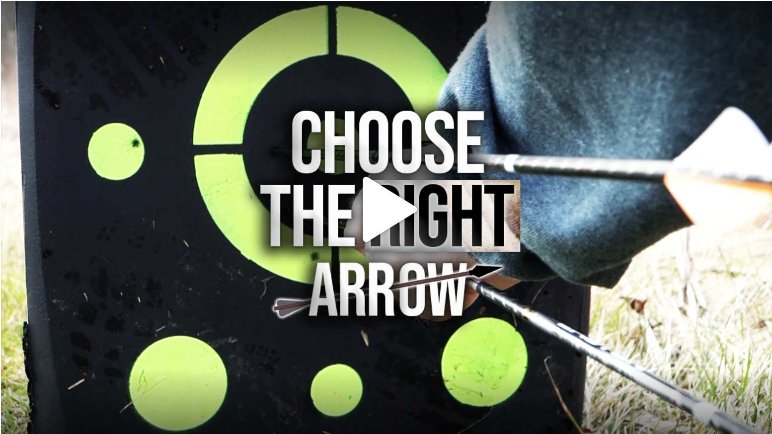 A video that explains how to choose the correct arrow for accuracy while hunting